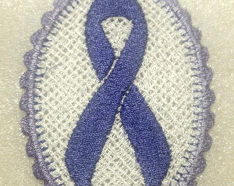 Custom Lace Awareness ribbon ornament