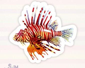 Lionfish vinyl sticker
