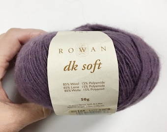 Rowan DK Soft Yarn, Purple Lilac Shade 165 Wool Nylon Blend