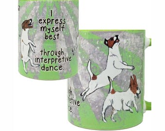 Jack Russell Interpretive Dance Mug by Pithitude