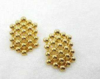 Avon Bold Dimensions pierced earrings 1991 original box