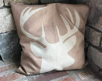 The Buck Stops Here - Burlapy Pillow Case