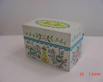 Vintage J. Chen Metal Recipe Box  17 - 704