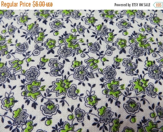 ON SALE Vintage Feedsack Fabric-Floral-Full Sack-Fat Quarter-Feed sack-1930's
