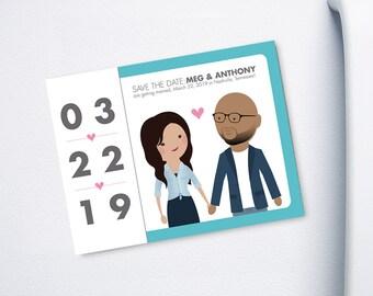 Save the Date Custom Cartoon printable design - Big Night design