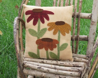 Primitive Flowers Pillow
