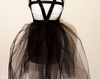 Gothic body harness dress