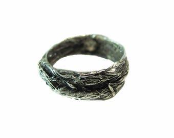 Sterling Silver Men's Nest Ring