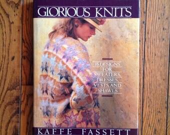 Vintage 1985 Glorious Knits Knitting Patterns Kaffe Fassett