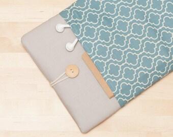 Macbook pro 15 case, 15 inch laptop sleeve, 15 inch laptop cover, macbook 15 sleeve - Retro blue