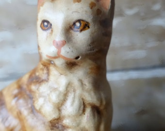 Vintage Orange Cat Chalk-ware for Your Private Collection