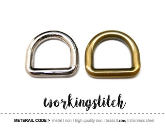 4pcs 19mm ZINC D-ring FOB Purse Hardware Finding for Purse Ring, Clasps Hook Ring st3/ High Quality