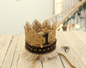 Lion King Crown KING of the JUNGLE Gold Max Crown Where the Wild Things Are Crown Boy Girl Queen Birthday keepsake Lace crown cake smash hat