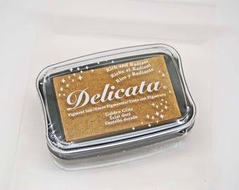 Delicata Stamp Pad -- Golden Glitz  -- Tsukineko Rich Radiant
