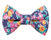 """Cat Bow Tie - """"The Caturday Vibes"""" - Liberty of London Floral Fabric"""