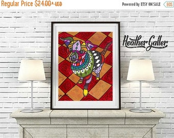 50% Off Today- CHIHUAHUA ART -  Art Print Poster by Heather GallerModern Dog Art (HG291)