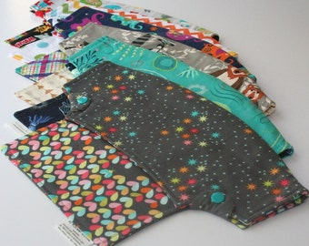 Baby Carrier Drool Bib and Suck Pads for LÍLLÉbaby Carriers - Choose a Fabric (Bora, Blue Lagoon, Hedgehogs, Robots & more) - Made to Order