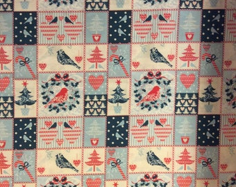 A Wonderful Christmas Holiday Xmas Patch Cotton Fabric By The Yard Free US shipping