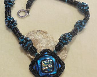 PATTERN Tutorial Taffy Bubbles Necklace Super Duo Seed Beads Crystals Herringbone bead embroidery