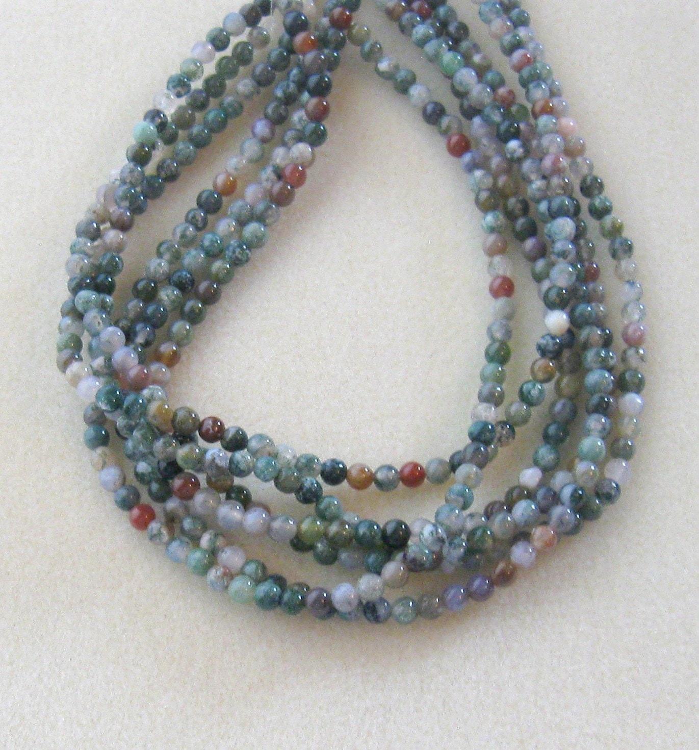 Indian agate round beads gemstone beads jewelry making for Birthstone beads for jewelry making