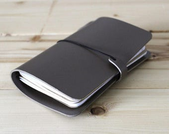 LEATHER COVER for Midori passport size - Moleskine pocket size notebooks - FIELD notes