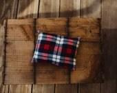 Flannel plaid pillow