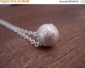 SALE SALE SALE Silver Single Bead Necklace, Dainty Silver Necklace, Minimal Necklace, Valentine's Gift Idea, Collier Perle D'Argent