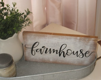 Hand Painted Wood Sign Farmhouse
