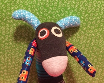 OOAK handmade recycled stuffed animal rex
