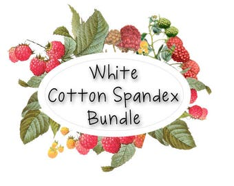 White Cotton Spandex Bundle