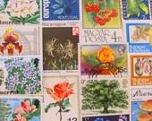 Miniature Botanical Garden 50 Vintage Botanical Postage Stamps Fruit Flower Vegetables Plants Horticulture Vegan Organic Garden Philately 2