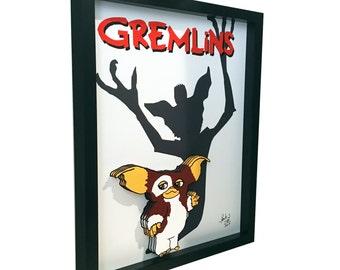 Gremlins Movie Poster Gizmo 3D Art Print Artwork 1980s Movie