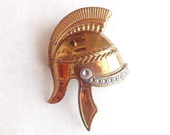 Spartan Helmet Brooch from 1920s
