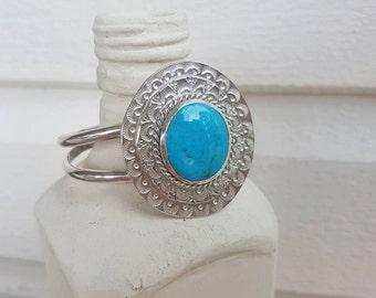 Blue Ridge turquoise cuff bracelet