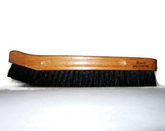 Vintage Mens Clothing Brush, Mans Dressing Room Accessory, Harris England Pure Bristle