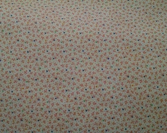 Cotton Fabric, 1/4 Yard, Mini Bud Pink Flowers, Quilt, Quilting, Windham Fabrics, Modern Country, Pillow, Sewing, Gift for Her, Easter Dress