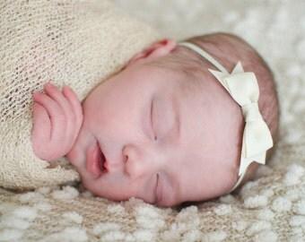 Baby hair bow, infant headband, bow headband, newborn headband, tuxedo headband, you CHOOSE colors, baby hair band, toddler headban,