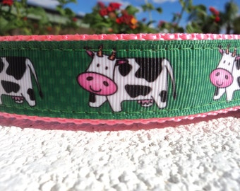 "Sale Dog Collar 1"" wide Quick Release buckle or Martingale collar style Holy Cow - s-xl sizes / include dogs neck measurement"