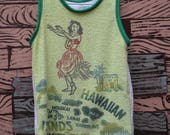 HAND MADE hula girl towel basketball jersey