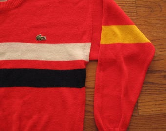 vintage Lacoste crew neck sweater