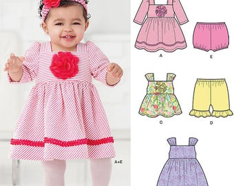 New Look 0953 same as 6253 Babies' Dress, Top, Diaper Cover and Pants Out of Print size NB - L