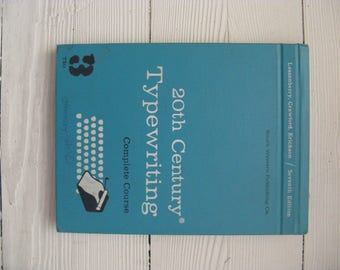 20th century typewriting mid century complete course seventh edition school text hardcover 1967 mid century office