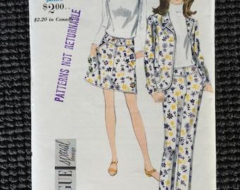Vintage Vogue 7005 Misses Jacket Skirt Pants Sewing Pattern Size 16 UNCUT