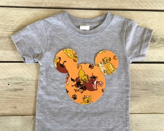 Lion King Mickey Mouse Inspired Iron On Applique DIY Simba