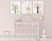 Nursery decor Baby Girl R...