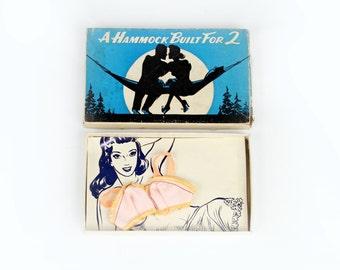 Vintage Bra Gift: Hammock Built For 2 Bra in a Box Vintage Postcard