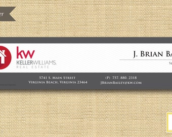 Digital File | Custom Email Signature Banner  | Classic Pinstripe | Any Color Any Company