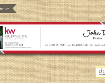 Digital File | Custom Email Signature Banner | Bold Stripes | Any Color Any Company