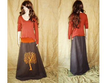 Rusty orange, red assymetric, pointy, earthy, faery, fairy top woodland L