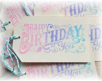 Happy Birthday - Pastels - Gift/ Hang Tags (6)